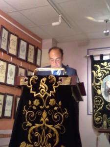 Don José María Francés Morillas, Pregonero 2011