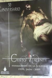 Cartel 50 Aniversario Cristo Yacente 2009. Diseño: Mario Ordoñez