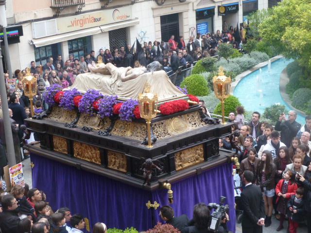 Paso Cristo Yacente. Año 2012