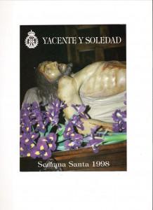 """Boletín """"YACENTE Y SOLEDAD"""" Nº 2. Año 1998."""